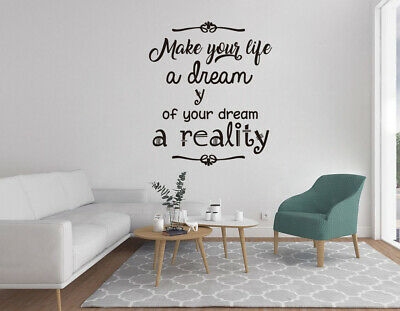 ed1056 Wall Decal Quotes Famous Words of Wisdom Phrase Vinyl Sticker