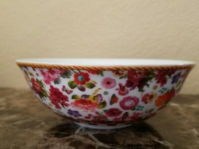 """New Lenox Melli Mello Isabelle Floral Set Of 2  All Purpose Bowls 6.25"""""""
