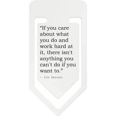Inspirational Quote By Jim Henson Plastic Paper Clip (CC023279)