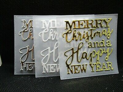 6 Merry Christmas And A Happy New Year With Vellum Layer Die Cuts...cardmaking