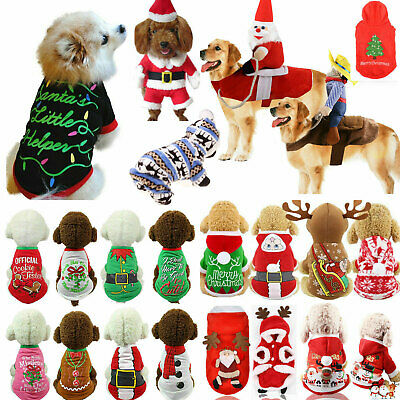 Christmas Dog Sweater Pet Knitwear Puppy Sweaters Apparel Xmas Small Large Dog