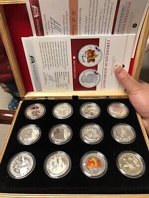 12pc 2013 canada 10$ Silver Coin set