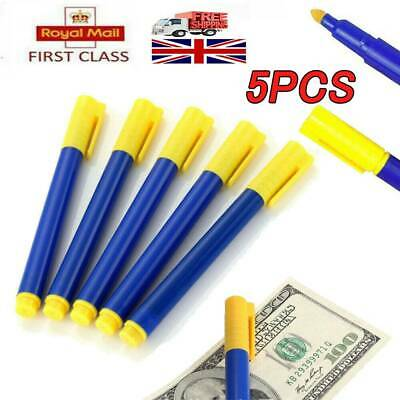 5X Money Tester Checker Pen Bank Fake Note Forged Currency Note Checker Official