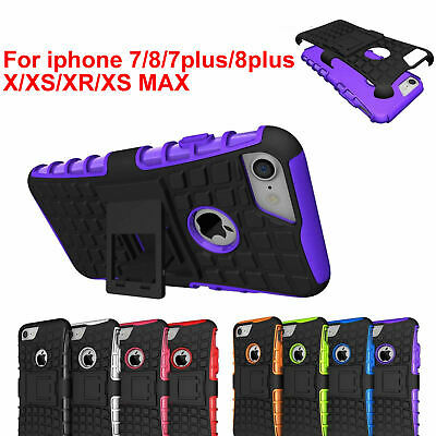 Case Cover For iPhone 8 8plus X XS MAX XR TPU Silicone Shockproof Hybrid Armor