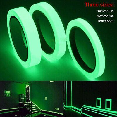 3M Luminous Tape Glow In The Dark Stage Home Safety Self-adhesive Sticker Decals
