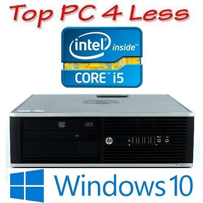 HP Elite 8300 SFF Computer Desktop PC Intel i5 3470 4G 250G DVDRW Win 10 Pro
