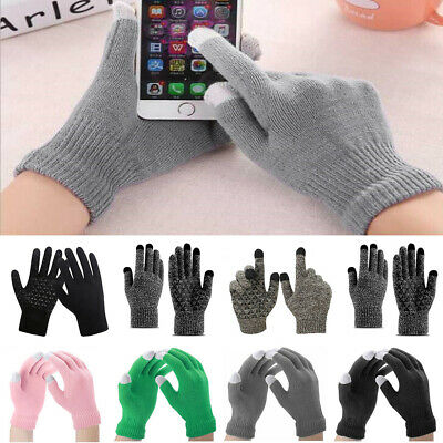 Winter Warm Knitted Touch Screen Gloves for Women Men Knit Wool Lined Texting
