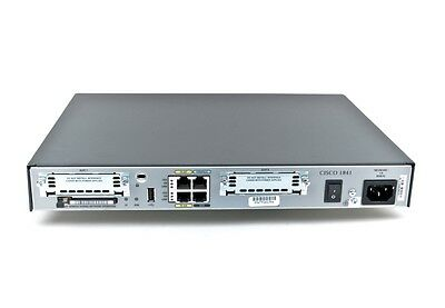 Cisco 1841 Modular Router 64MB Flash 256MB DRAM CCNA CCNP Tax Inv