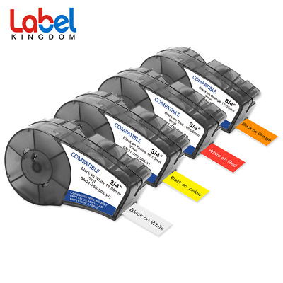 Compatible Brady M21-750-595-WT/YL/OR/RD BMP21-PLUS Labels High Adhesion Vinyl