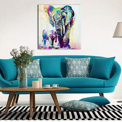 Modern Abstract Huge Wall Art Oil Painting On Canvas-Elephant Wall Decor SW
