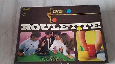 Vintage Roulette Wheel Game- Complete