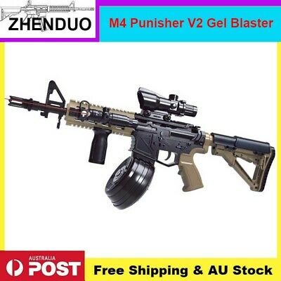 Nylon HeE-06 M4 Punisher V2 Gel Ball Blaster Toy Gun Auto Mag-fed Adult Size AU