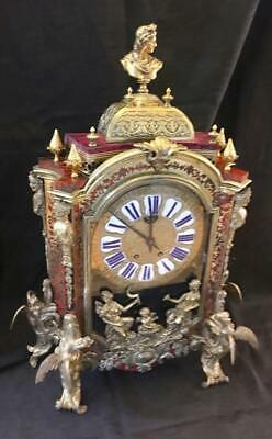 Antique french boulle clock massive dragon ormolu