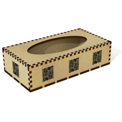Long 'Abstract Pattern' Wooden Tissue Box Cover (TB00010062)