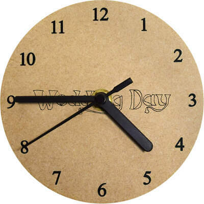 'Wedding Day' Printed Wooden Wall Clock (CK011719)