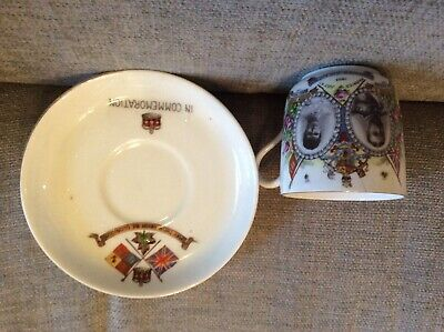 Antique Coronation WWL CUP /& SAUCER King George V /& Queen Mary Royal Memorabilia