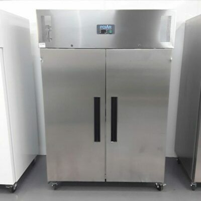 Commercial Fridge Double Door Upright Chiller Stainless Polar G594