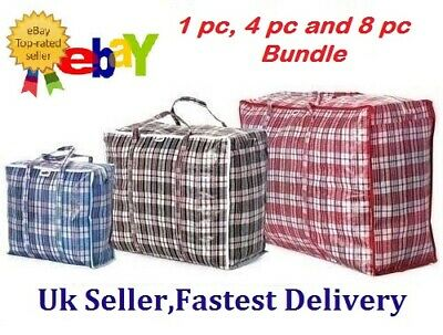 Reusable Laundry Storage Bag Shopping Bags Zipped Strong Jumbo Large Laundry Bag