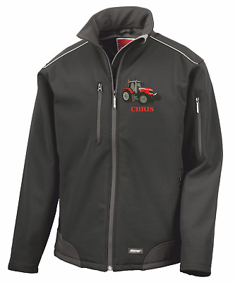 MASSEY FERGUSON TRACTOR Embroidered personalised softshell Result R124X jacket