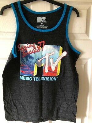 MTV vintage t-shirt / vest top - Spring Break 1987, size medium
