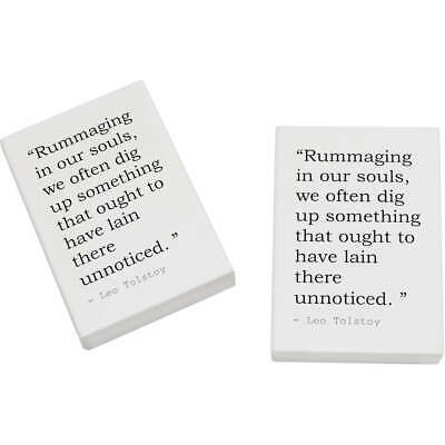 2 x 45mm Religion Quote By Leo Tolstoy Erasers / Rubbers (ER00001784)