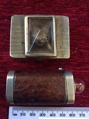 Pair Of Vintage Art Deco Battery Torches C. 1920/30s Ever Ready Etc