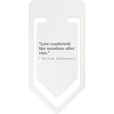 Love Quote By William Shakespeare Plastic Paper Clip (CC030735)