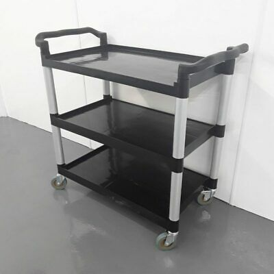 Commercial Trolley 3 Tier Shelves Mobile Vogue CF102