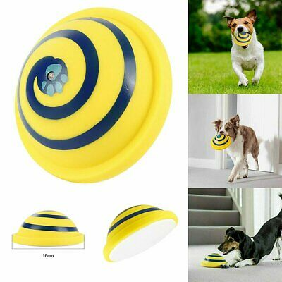Dogs Pet Toy Sounding Disc Woof Glider Safe Soft Indoor Play Toy For Dog Frisbee