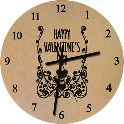 'Valentine's Day Frame' Printed Wooden Wall Clock (CK015983)