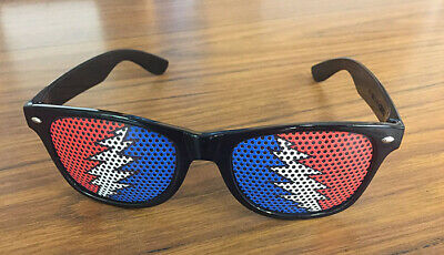 "Grateful Dead ""Steal Your Face"" Lightning Bolt Sunglasses ""Steal Your Shades"""