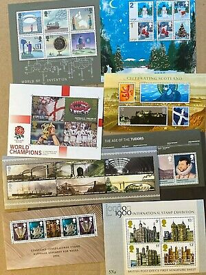 FV: £25+ DISCOUNTED Mint (MNH) GB Stamps  MINISHEETS Valid for UK Postage [#A55]