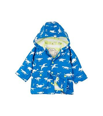 Hatley Blue Colour Changing Dinosaur Menagerie Raincoat Size 9-12 Months