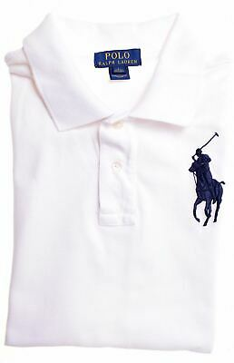 POLO RALPH LAUREN Boys Polo Shirt 14-15 Years Large White Cotton  EZ08
