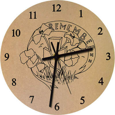 'Remembrance Day' Printed Wooden Wall Clock (CK016380)