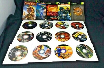 Xbox Microsoft Game Disc Lot of 12 Black Jade Empire Fable Counterstrike  XBL2