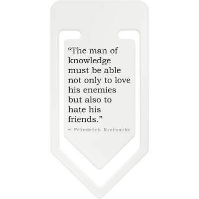 Friendship Quote By Friedrich Nietzsche Plastic Paper Clip (CC031309)