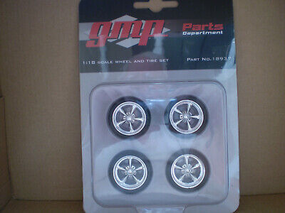 GMP New Custom Chrome Street Fighter Wheels & Tires 1:18 Scale. # 18937
