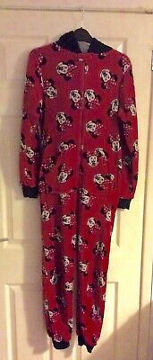 Girls Red Minnie Mouse all-in-one age 13-14