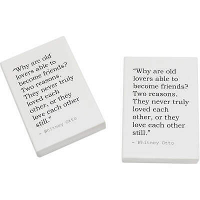 2 x 45mm Friendship Quote By Whitney Otto Erasers / Rubbers (ER00001597)