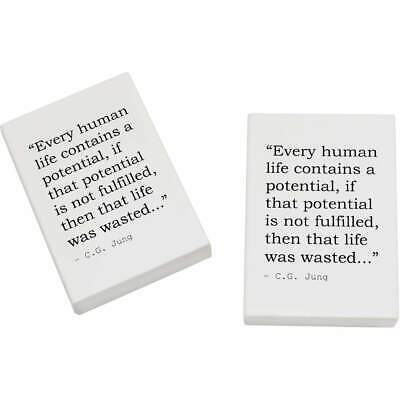 2 x 45mm Quote By C.G. Jung Erasers / Rubbers (ER00014347)