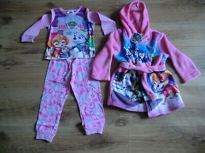 Paw Patrol Girls Pink Pyjama And Robe Set Age 18-24 Months  Brand New
