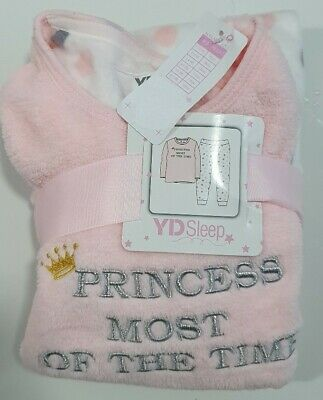 Primark Girls age 2-7 'Princess most of the time' fleece pyjamas