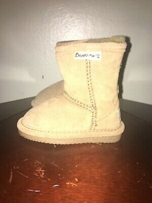 BearPaw boots toddlers boy girl US size 5 UK size 4 color brown suede upper New
