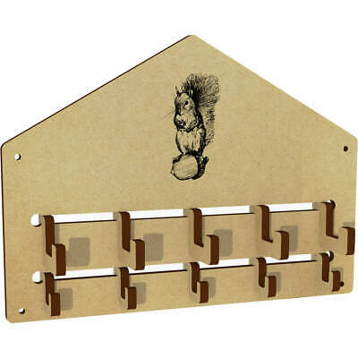 'Squirrel With Acorn' Wall Mounted Coat Hooks / Rack (WH00019572)