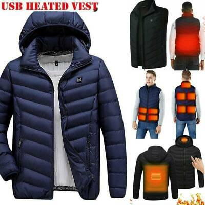 Electric Vest Heated Jacket USB Warm Up Heating Pad Protect Body Winter Warmer