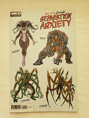 Absolute Carnage Separation Anxiety #1 - 1:10 Brian Level variant - 8.5/VF+