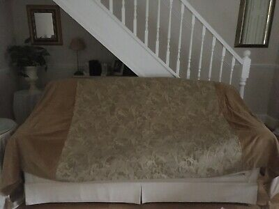 "Sofa Throw Cherubs With Velvet Approx Size  9' 8"" Wide X 4' 6"" Long  Gold"