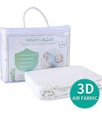 Crib Mattress Protector Cover  Comfortable Breathable, Waterproof, Soft Bamboo