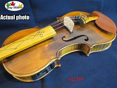 Solid wood electric & acoustic violin 4/4 ,inlay maple wood fingerboard #11789